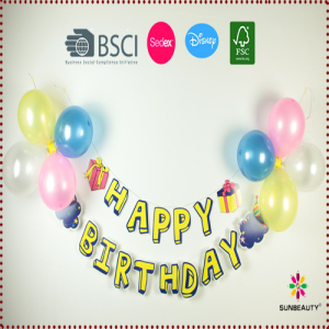 Happy Birthday Balloon Banner Set