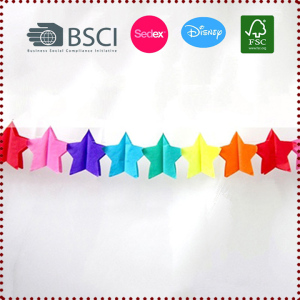 3m Rainbow Star-Shaped Party Garland