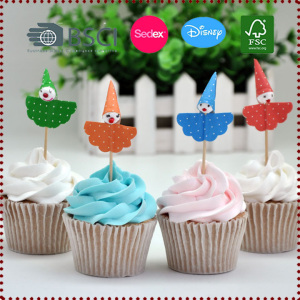 10pcs Clown Cupcake Topper