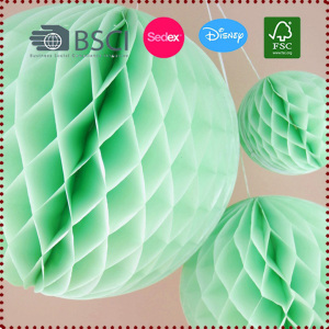 Mint 3pcs (15cm/20cm/25cm) Tissue Paper Honeycomb Ball