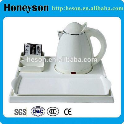 stainless steel hotel supplies/hotel kettle tray set plastic/double tea pot kettle set