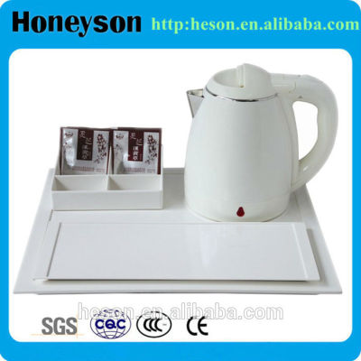 Hotel guest room electric kettle with tray set