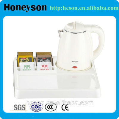 5 star hotel furniture electric stainless steel kettle tray set