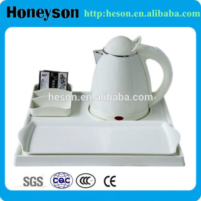 stainless steel hotel supplies/hotel kettle tray set plastic/cordless hot plate manufacturer