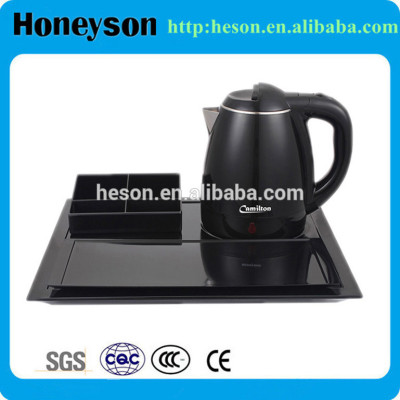 Hotel products restaurant supplies tray set/electric tea kettle tray set
