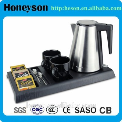 Hotel electric kettle hot sell arabic tray set for hotel guest room products