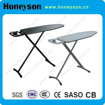 Hotel high adjustable T leg folding ironing board with iron rest