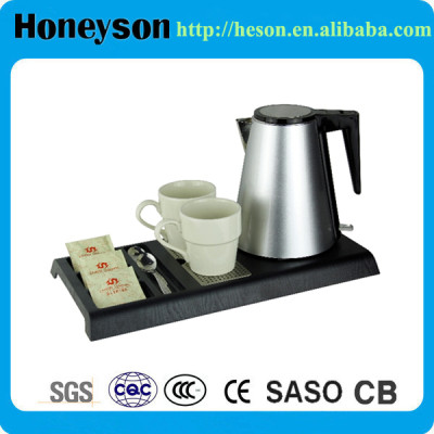 1.2L Double-body electric kettle with tray set for hotel products