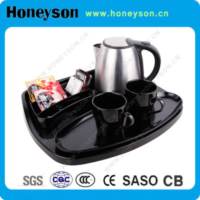 Honeyson #304 electric kettle with tray set for hotel products