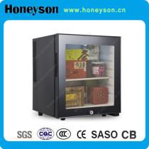 42l mini transparent door wine fridge for hotel
