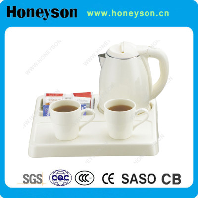 White electric kettle hospitality tray set manufacturer
