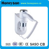 Wall mount Hair Dryer with over heating protecton button for Hotel Room supplier
