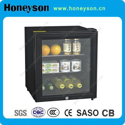 Honeyson top hotel mini bar absorption refrigerator glass door