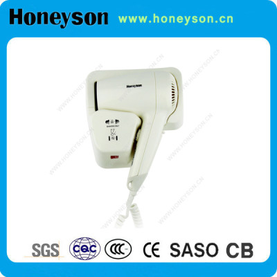1200W Cheap Hotel Wall Mounted Hair Dryer with Shaver Socket