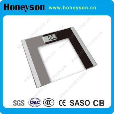 Honeyson hotel digital glass precision bathroom scale body weight