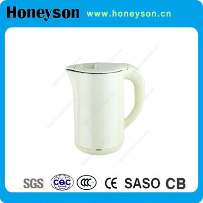 Honeyson stainless steel double wall hotel electric kettle