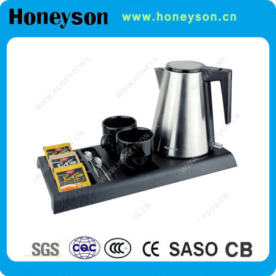 Hotel Stainless Electric Kettle with Tray Factory