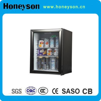 Honeyson profession hotel mini bar display freezer glass door