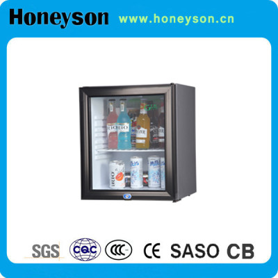 Honeyson 2016 hotel room 30 liter glass door mini bar fridge