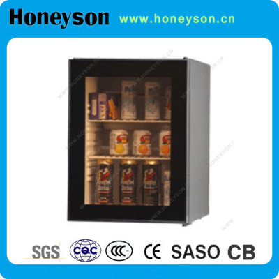 Honeyson 2016 hotel 50 litre mini display fridge