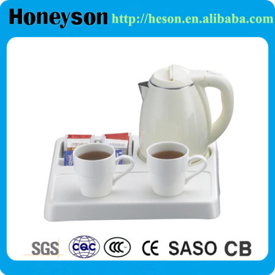 Honeyson new hotel electric kettle tray set cordless