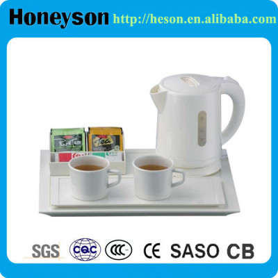 Honeyson best electric cordless hotel room kettle set