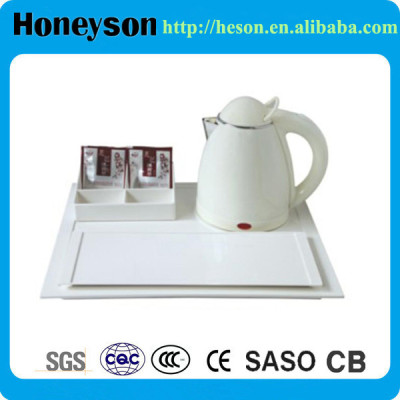Honeyson top hotel stainless steel electric kettle with tray set