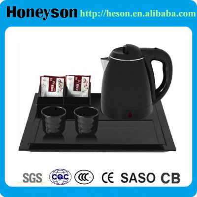 1.2L Plastic Electric Kettle with Hotel Amenity Welcome Tray