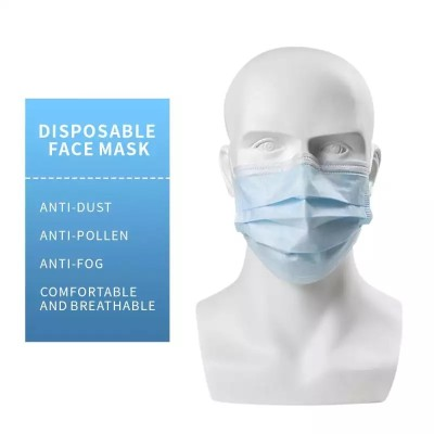 Haobloc Disposable 3ply Surgical Face Mask Against Coronavirus wholesale