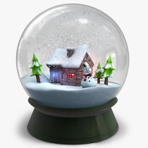 2016 christmas decoration of Sweet Home snowglobe