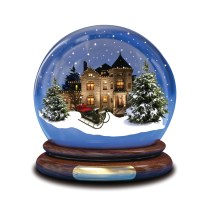 2016 christmas decoration of polyresin sweet home globe