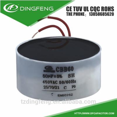 Deshidratación bomba de repuestos de motor de condensador cbb60 400 v 50 uf