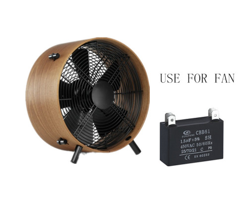 Cbb61 15 uf 450vac condensador 4 pines te negro shell ac condensador