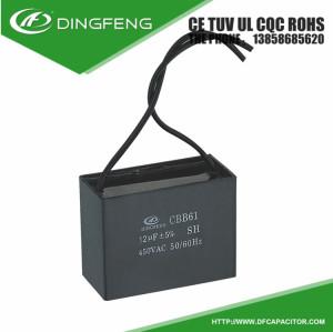 Ventilador de techo te negro o blanco shell running cbb61 condensador 2 uf