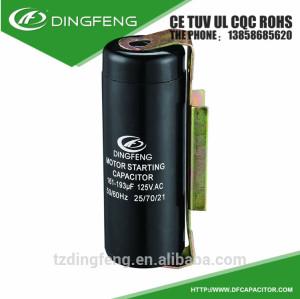 Motor de arranque condensador cd60 baquelita shell con la cubierta de 273-324 uf
