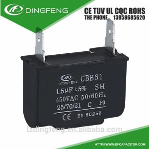 Cbb61 sh condensador 300vac ventilador de techo 2 pins