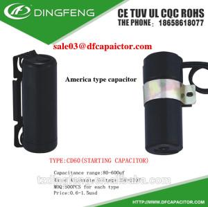 Dual 400vac condensador del motor condensador de la bomba de aceite lubricante