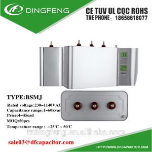 Condensador de filtro condensador en paralelo de 40 kvar kvar batería de condensadores de potencia