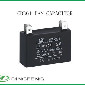 Cd60 250 v motor condensador de arranque condensador del ventilador eléctrico