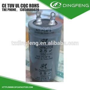 2.5 mfd roune aluminio tailandia tipo condensador 350 v
