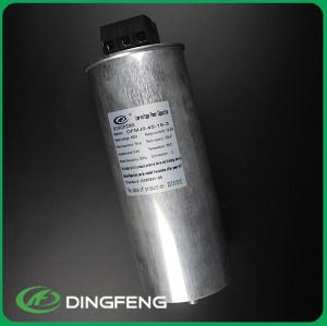 Columniform kvar condensador condensador de auto-sanación 3 fase