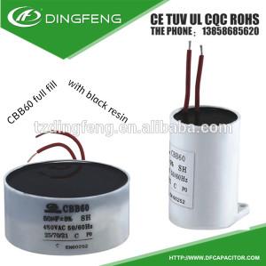 Factor de inducción calentador te negro resina condensador