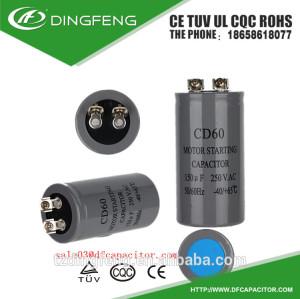 Cd60 condensador del motor de la bomba de la estrella con safey