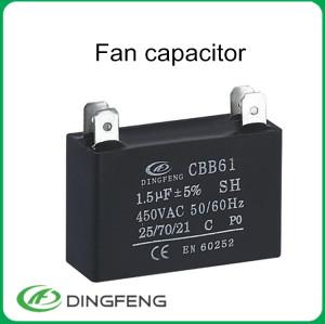 1.5 uf 450 v condensador es un mercado grande ventilador de techo condensador