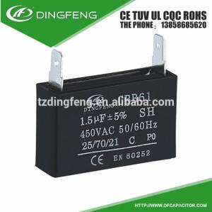 250vac cbb61 condensador cbb61 0.5 uf 50/60 hz