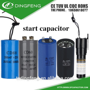 Cd60 condensador de arranque condensador 250 v 105 k ac motorreductor para arrancar el motor