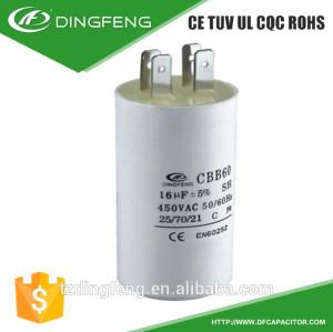 Uso para la lavadora condensador cbb60 ac motorreductor