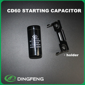 Condensador de arranque del motor de arranque eléctrico generador