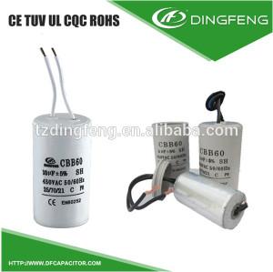 Cbb60 250vac 25 85 21 metalizado condensador de película de poliester