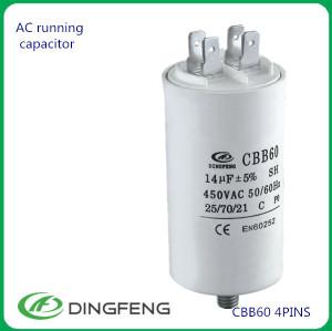 Condensador cbb61 15 uf 450vac condensador con certificado ce para motor en60252